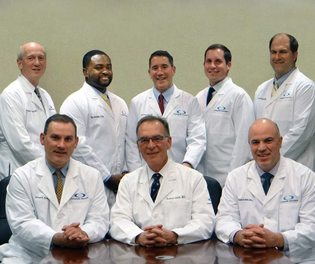 DFrom left are (top) Dr. Larson, Dr. Adeleke, Dr. Reardon, Dr. Kuhn, and Dr. Naujoks and (bottom) Dr. Hicks, Dr. Geist, and Dr. Fejos. Photo courtesy of Rachel Harrington