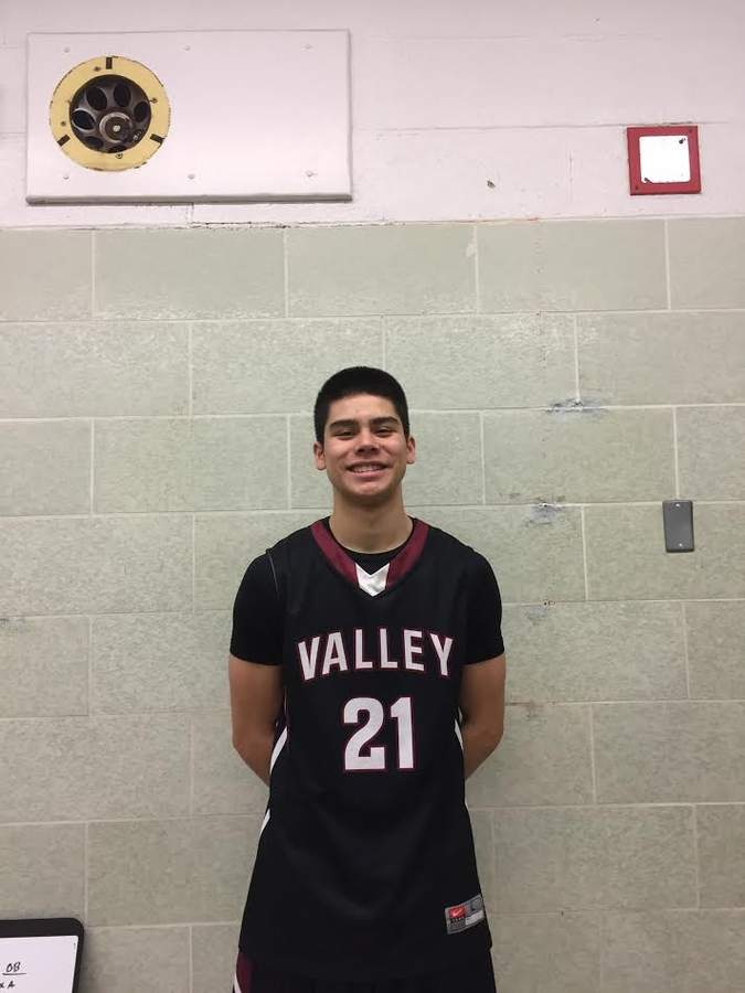 Jordan Moran is having his best year yet as a senior on the Valley Regional boys' basketball squad. As the Warriors' point guard, Jordan is posting an average of 17.9 points and 4.4 assists per game. Photo courtesy of Jordan Moran