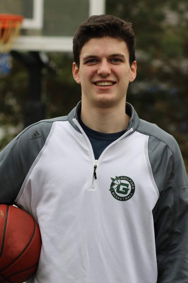 Sophomore Colin Kellaher has added a nice outside shot to his game and earned a spot on the varsity squad with Guilford boys' basketball. Photo courtesy of Colin Kellaher