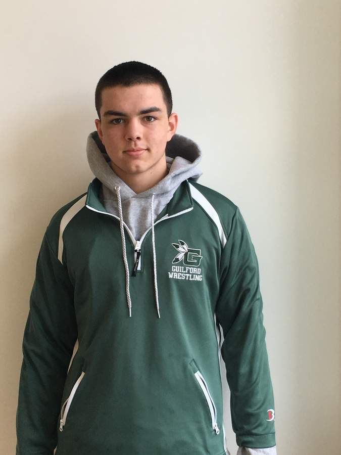 Junior Charlie Andrus has wrestled his way to a 21-4 record in his first year of varsity competition with the Indians.  Photo courtesy of Charlie Andrus