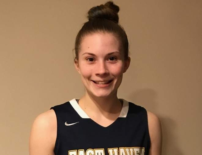 Kylie Schlottman has been a dominant force in the SCC since her freshman year and has already eclipsed 1,000 career points with East Haven's girls' basketball team.  Photo courtesy of Kylie Schlottman