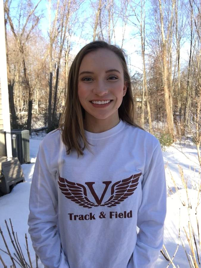 Addie Byars recently completed her junior season as a member of the Valley Regional girls' indoor track squad. Now, Addie gets ready for her spring season with Warriors' outdoor track. Photo Courtesy of Addie Byars