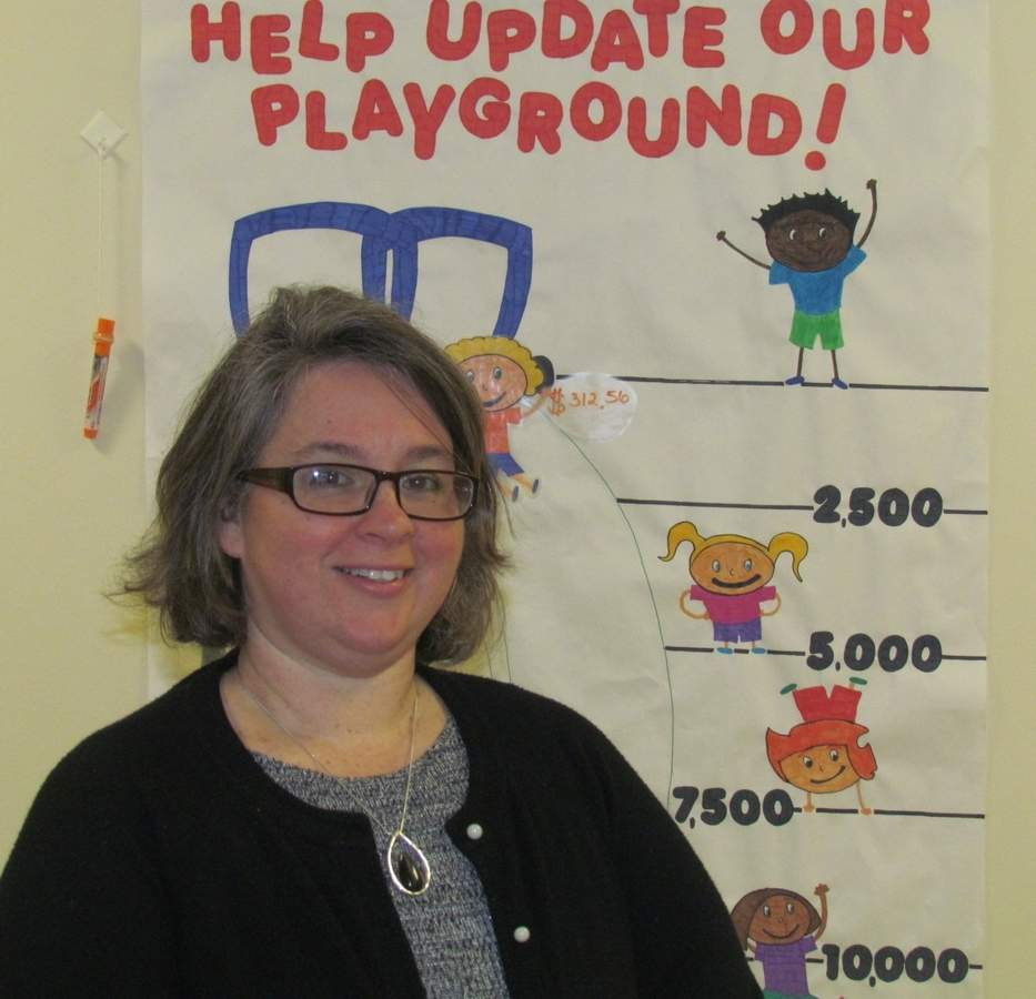 Teacher Dawn Longley is leading the charge to help non-profit Learn & Play Christian Early Learning Center of Branford raise funds for a new playground, by inviting the community to come out and enjoy fun, food, and more at the Playground Extravangaza Sunday March 12, 3 p.m. at 811 E. Main Street. Photo by Pam Johnson/The Sound