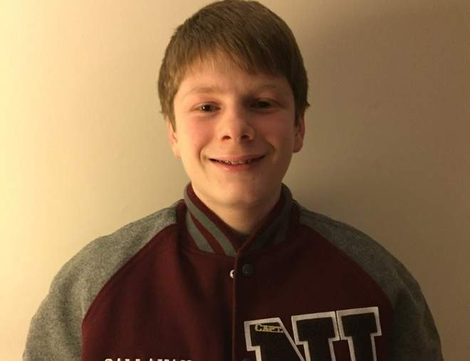 Harrison Callahan was the top shooter on the North Haven rifle team this year and Head Coach Brent Heidenis says that he also did an exemplary job as a junior captain for the Indians. Photo courtesy of Harrison Callahan