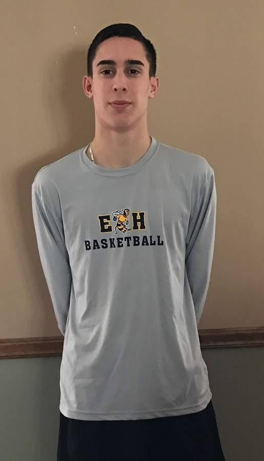 Brandon DePalma displayed great leadership skills as a senior for the Easties this winter and brought a high basketball IQ to the court for Head Coach Ricky Narracci's squad. Photo courtesy of Brandon DePalma