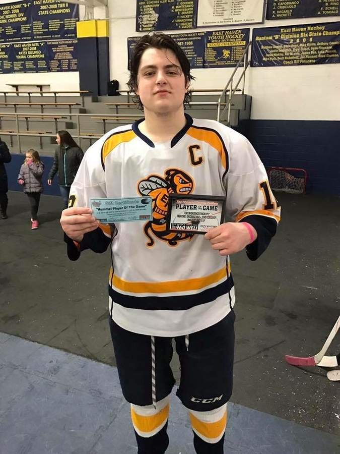 Joe Aloi recently completed his senior season with the Yellowjackets and feels excited about the next chapter of his hockey career. Photo courtesy of Joe Aloi