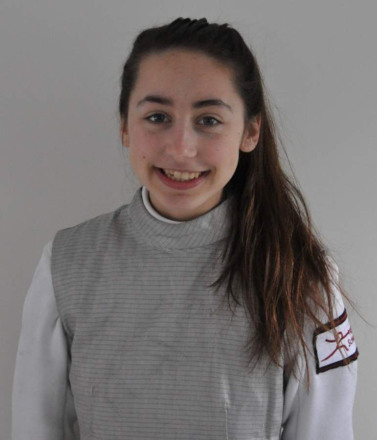 Senior captain Chloe Moulin earned her third-straight All-State First Team distinction as a foil fencer for Hand this winter, after which she posted a 12-0 record at the Team State Championship, where her squad finished fourth. Photo courtesy of Chloe Moulin