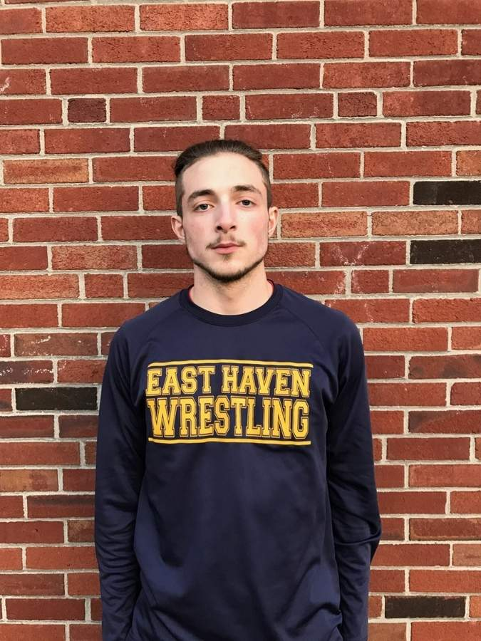 Nick DeMorro didn't join the East Haven wrestling team until his junior season, but still put together a nice two-season stint as a member of the Yellowjackets.  Photo courtesy of Nick DeMorro