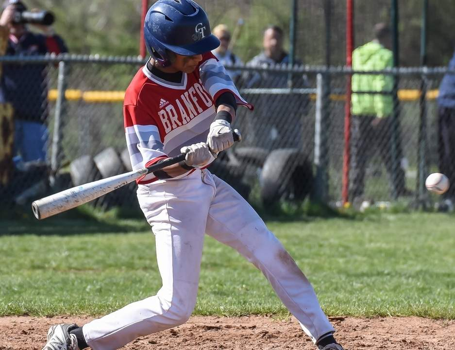 Junior second baseman Damien Maniscalco is one of the returning veterans for the Branford baseball team, which enters its second season with Head Coach Steve Malafronte this spring. Photo by Kelley Fryer/The Sound