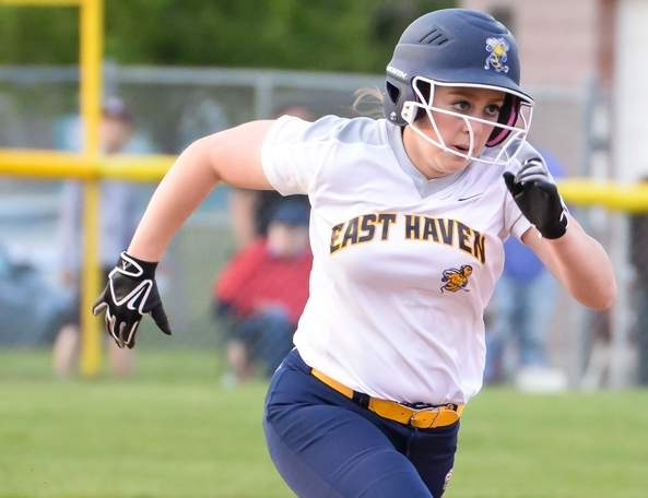 Junior Selena Mauro will bat leadoff and take to the pitcher's mound for the East Haven softball team this spring. The Yellowjackets are coming of a campaign in which they finished with a record of 15-7. Photo by Kelley Fryer/The Courier