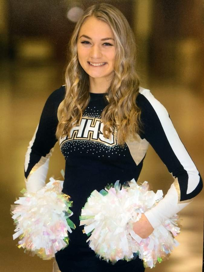 For the past few years, Alexa Battaglino has dedicated herself to the East Haven cheerleading program as both a competitor and a coach. A senior captain, Alexa made the All-SCC Team for the high school squad in her senior season this winter.  Photo courtesy of Alexa Battaglino