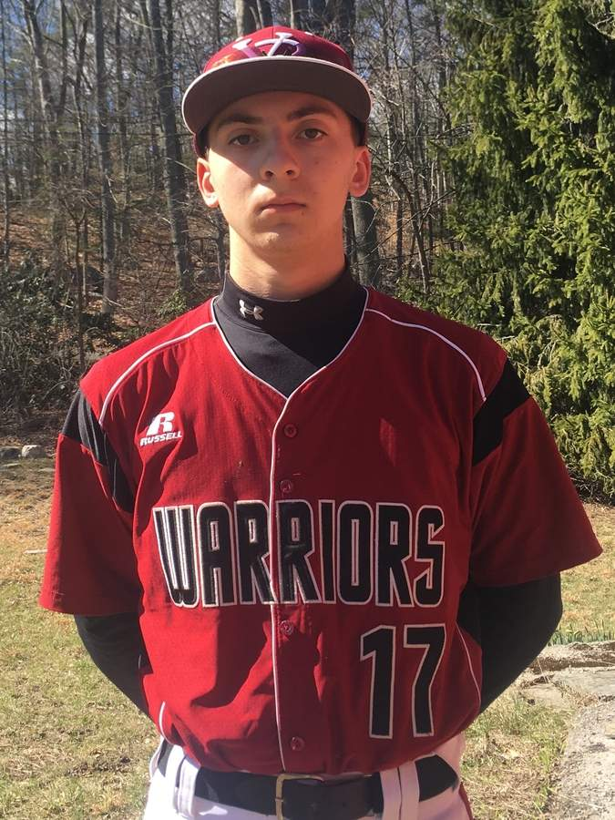 Senior Brett Camilleri is aiming to make the 2017 season a special one for both himself and the Valley Regional baseball team. Thus far, Brett and company are off to a good start as he's batting .500 for the Warriors, who are 2-1. Photo courtesy of Brett Camilleri