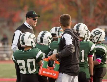 Mark Chapman recently stepped down as the league treasurer for the Guilford Youth Football and Youth Cheerleading organization. Kevin Smith now takes over in that role. Photo courtesy of Kathleen Gambardella