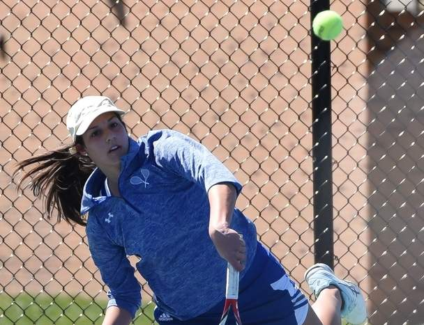 Tanya Gianitsos and the Rams' girls' tennis team improved to 4-1 by posting victories versus Haddam-Killingworth and East Hampton in last week's action. Photo by Kelley Fryer/Harbor News