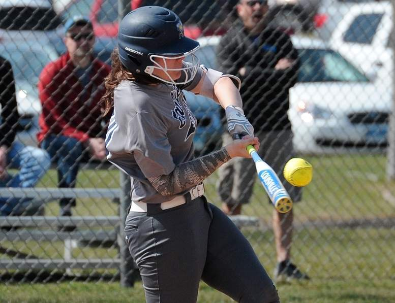 Julia SanGiovanni put together a solid week at the plate by crushing two home runs for the East Haven softball team. Photo by Kelley Fryer/The Courier