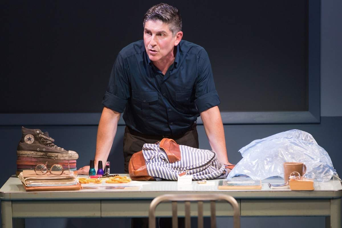 James Lecesne as Chuck in The Absolute Brightness of Leonard Pelkey at Hartford Stage. Photos by Matthew Murphy