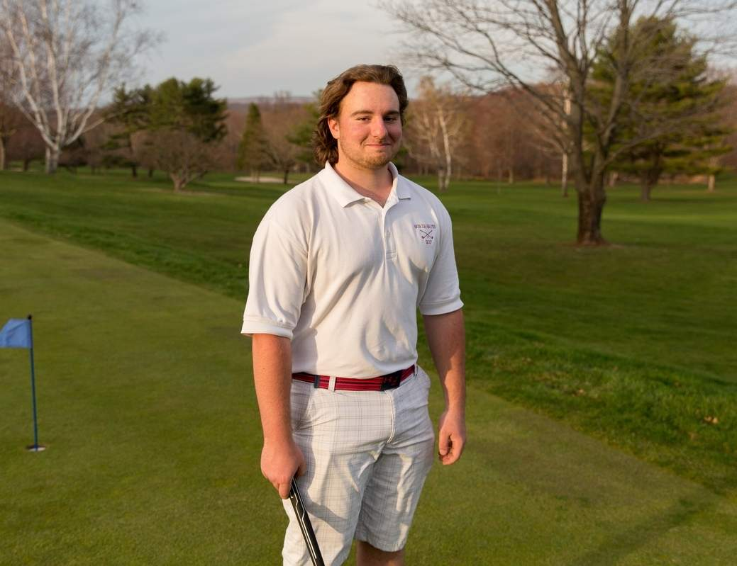 Matt Mezzano joined the North Haven golf team as a junior and promptly became a key member of the squad. Now a senior, Matt has already earned medalist honors twice for the Indians this season.  Photo courtesy of Daria Cummings
