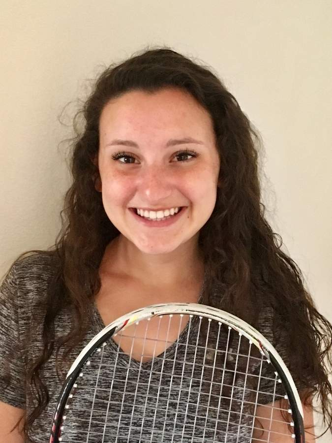 After going 17-3 between the No. 2 and 3 singles positions last year, senior captain Callie Riggio is playing the No. 1 spot for the Valley Regional girls' tennis team in the 2017 season. Photo courtesy of Callie Riggio