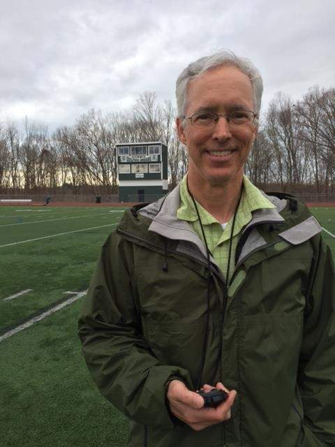 George Cooksey has been an assistant coach with Guilford's indoor and outdoor track programs for the past decade. This season, George is moving up the ranks as he's the new head coach for the Indians' boys' outdoor track team. Photo courtesy of George Cooksey