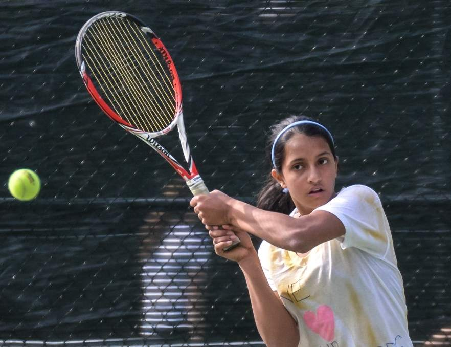 Ankita Roychoudhury and the Tigers' girls' tennis team swept both Shelton and Sacred Heart Academy last week to improve to 3-0 on the season. Photo by Kelley Fryer/The Source