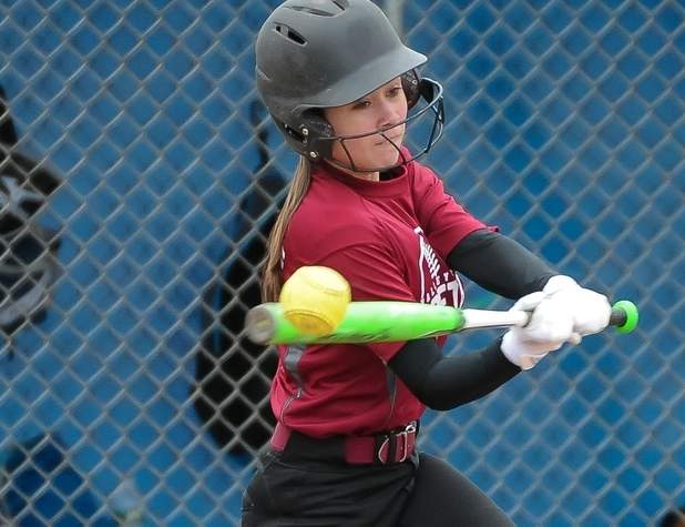 Freshman Riley Millburne went 5-for-8 with three RBI in Valley's doubleheader sweep against Career on April 15. The Warriors have won three of their last four games to bring their record to an even 4-4 on the season. Photo by Kelley Fryer/The Courier