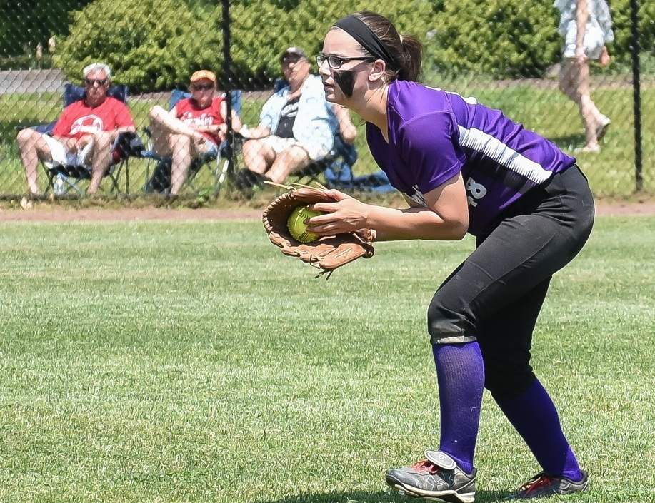Sydney Senerchia and the T-Birds' softball squad improved to 6-1 this year after posting lopsided triumphs versus Coginchaug and Portland in last week's action. Photo by Kelley Fryer/The Sound