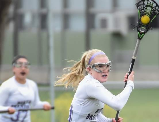 Senior Tara Lauro and the North Branford girls' lacrosse team are sporting a record of 6-1 this year and stand just one win away from a quick berth into the Class S State Tournament. Photo by Kelley Fryer/The Sound