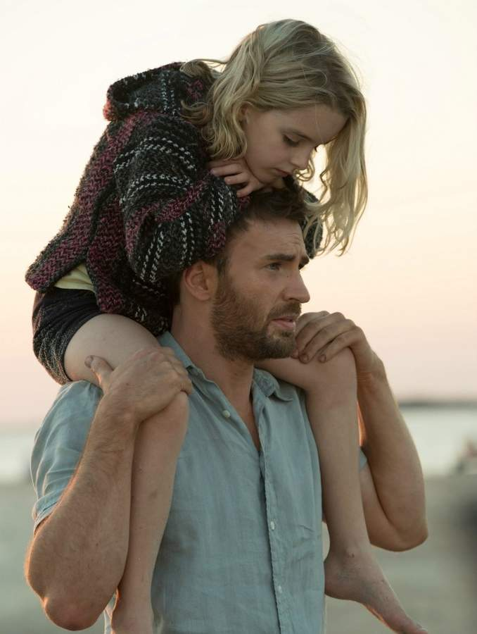 Chris Evans and McKenna Grace stars in Gifted.  Photo courtesy of Fox Searchlight Pictures.
