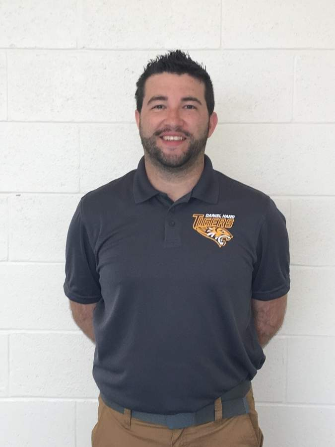 Nick Warhola has made a big impact as an assistant coach with the Tigers' boys' lacrosse team the last three years, and now he's in the midst of his first season as the head coach of Hand's JV and freshman squads. Nick is also a history teacher at Daniel Hand High School. Photo courtesy of Nick Warhola