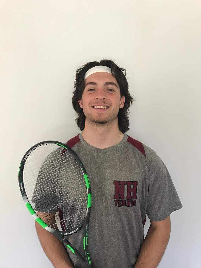 In the course of the past three seasons, senior Billy Sgro has progressed from being completely new to the sport of tennis to become the No. 3 singles player on North Haven's boys' team. Photo courtesy of Billy Sgro