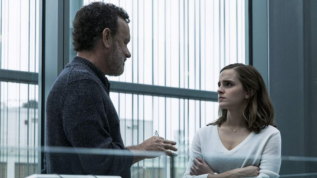 Tom Hanks, Emma Watson and Patton Oswalt star in The Circle. Photo by 2017 STX Financing, LLC