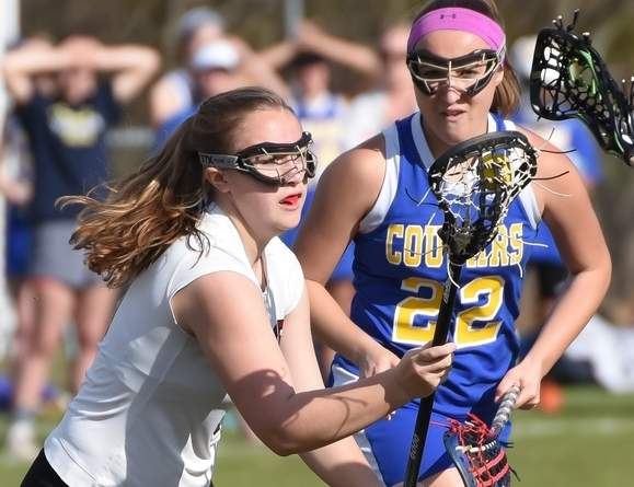 Junior Jaime Jaillet and the Valley Regional girls' lacrosse squad won two games last week and needs to pick up two more victories to qualify for the State Tournament this spring. Photo by Kelley Fryer/The Courier