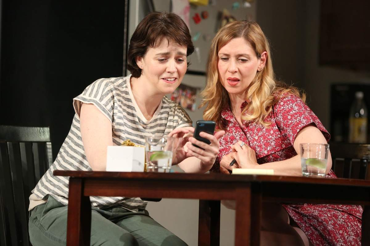 Emily Donahoe and Miriam Silverman in Mary Jane by Amy Herzog, directed by Anne Kauffman. Photo by Joan Marcus
