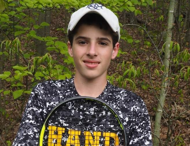 After posting an undefeated record during each of the last two regular seasons, junior Justin Pace is on the fast track for another stellar year with the Hand boys' tennis team. Justin and the Tigers both sport records of 14-0 this spring. Photo courtesy of Justin Pace