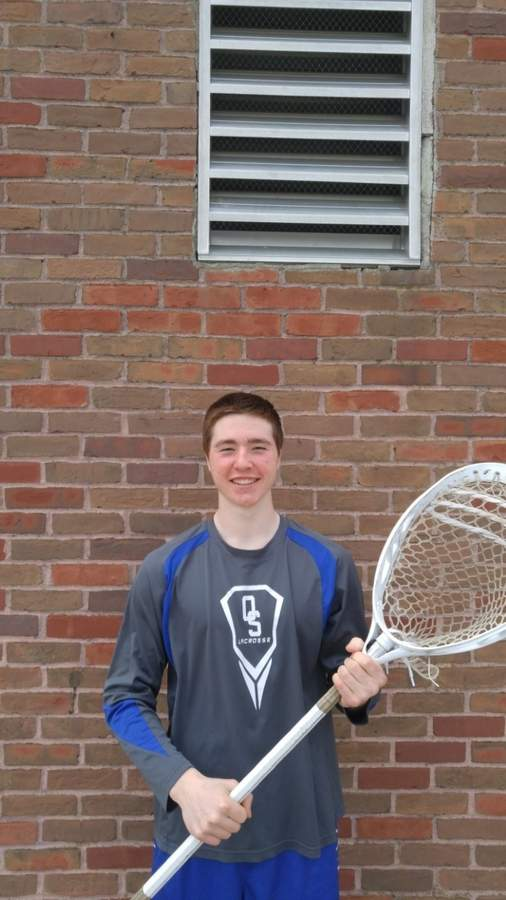 Junior captain goalie Keaton Roarick became the state's all-time leader in career saves early on this spring and then helped the Rams' boys' lacrosse squad earn a spot in states last week. Photo courtesy of Keaton Roarick