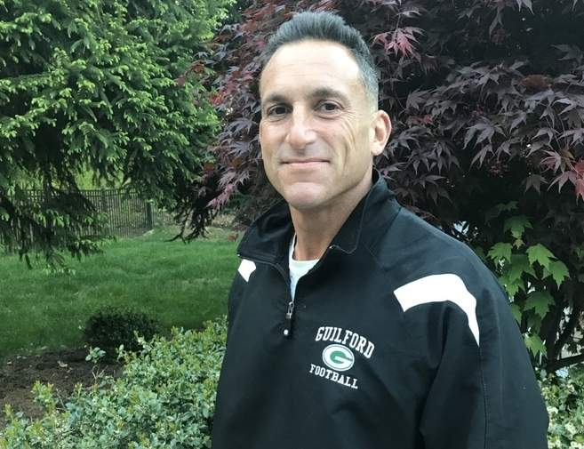 After spending several years coaching Guilford Youth Football and serving as the Indians' freshman coach last fall, Anthony Avallone is now the new head coach at the high school. Photo courtesy of Anthony Avallone