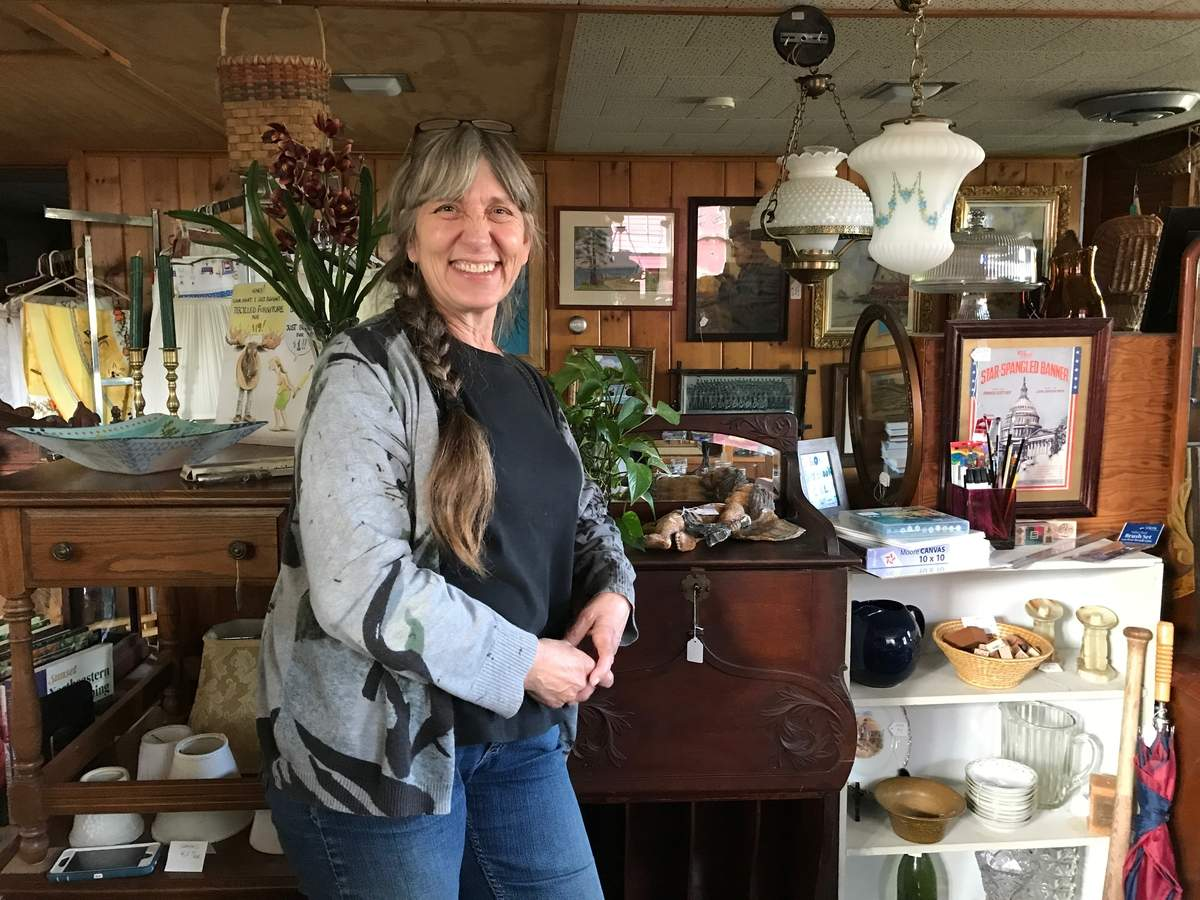On Saturday, June 3, Karen Emack-Dolson, a born history buff and co-proprietor of Old Saybrook Recycled Furniture, will organize the Old Saybrook Historical Society's fifth annual Antiques & Appraisal Day. Photo by Morgan Hines/Harbor News