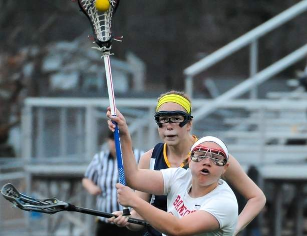 Sabrina Torcellini and the Branford girls' lacrosse team advanced to the semifinals of the Class M State Tournament after defeating Foran and Farmington in the first two rounds.  Photo by Kelley Fryer/The Sound
