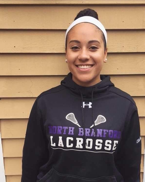 Junior Jasmine Coleman has made a name for herself as a dominating defensive presence for North Branford's field hockey and girls' lacrosse teams.  Photo courtesy of Jasmine Coleman