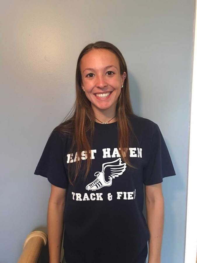 Junior Haley Montesanto recently qualified for the State Open in the 300-meter hurdles after running the third-fastest time in school history with her mark of 48.83 seconds at the  Class MM State Championship. Photo courtesy of Haley Montesanto