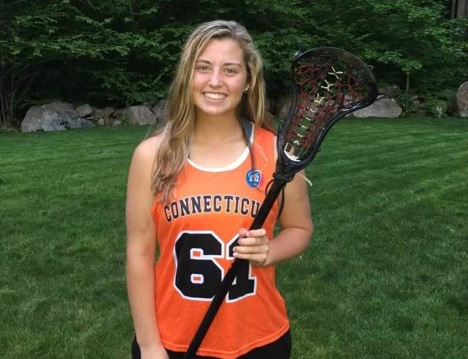 Ivoryton resident and Valley Regional High School sophomore Allie Ruel has recorded a variety of achievements on the lacrosse field, including her recent selection to play in the 2017 Brine National Lacrosse Classic. Ruel is just one of four sophomores from the New England region who was chosen to play in the game. Photo courtesy of Greg Ruel