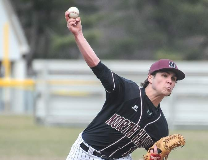 Senior Brendan Clark was the winning pitcher in all four games when the North Haven baseball team beat Platt, Avon, Notre Dame-West Haven, and Fitch to advance to the championship game of the Class L State Tournament. Photo by Kelley Fryer/The Courier