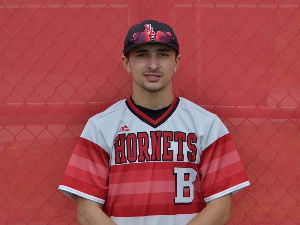 Senior captain center fielder Jordan Botte recently wrapped up a stellar career with the Branford baseball squad by earning All-Southern Connecticut Conference honors for the Hornets. Photo courtesy of Jordan Botte