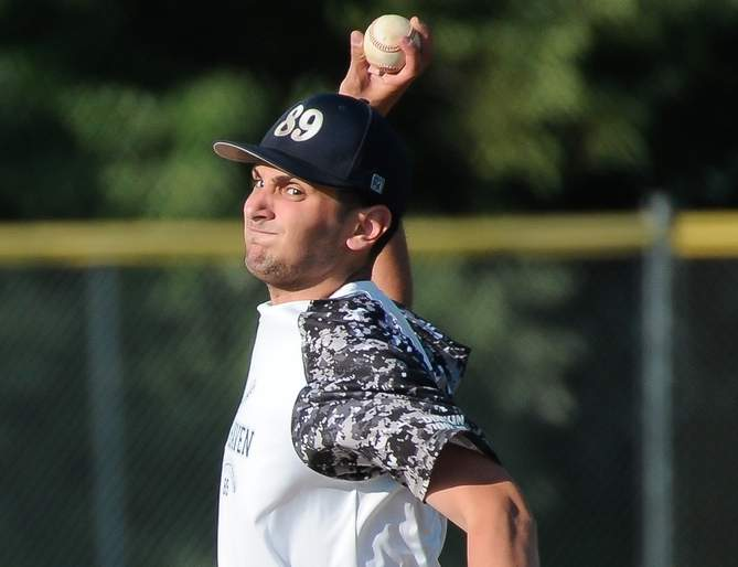 Mike Mancuso was the winning pitcher when the 89ers' Senior Legion baseball squad began its season by posting a 7-2 home win versus West Haven on June 12. Photo by Kelley Fryer/The Courier