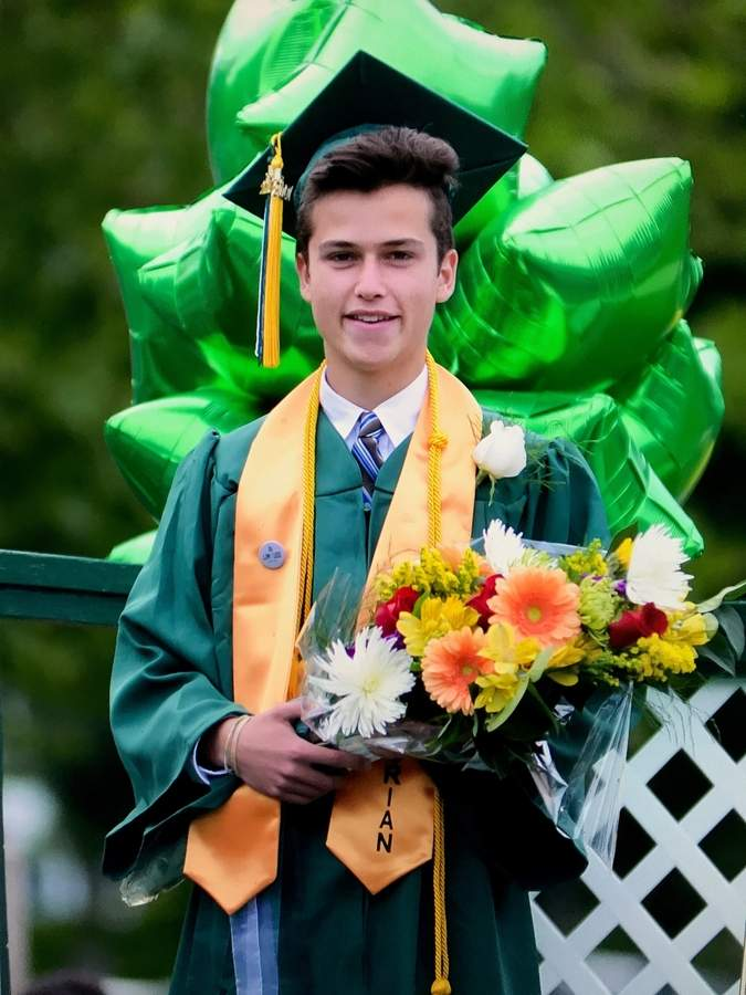 Academically talented and an advocate for working to bring about change for the better, Guilford High School Class of 2017 Valedictorian Josh Stern heads to Harvard next year. Photo by Kelley Fryer/The Courier