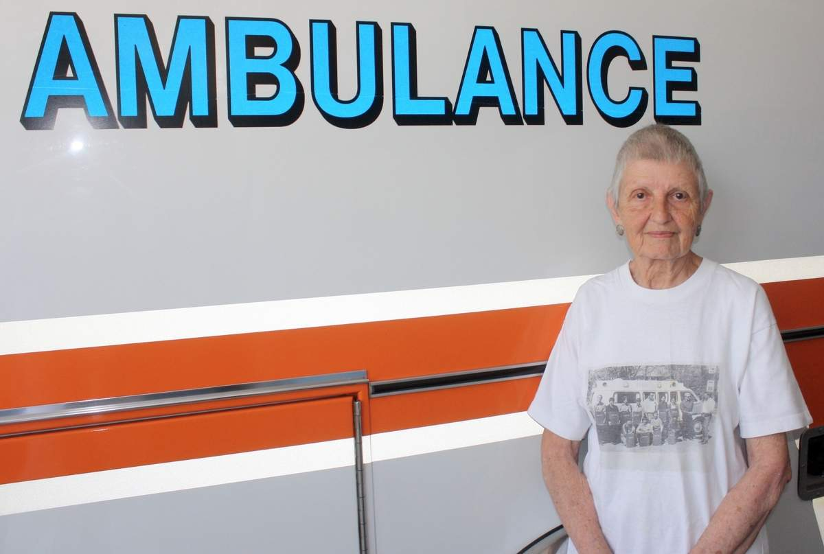 How do you honor four decades of service? On Tuesday, July 4, Sam O'Donnell, a founding member of the 40-year-old Essex Ambulance Association, will serve as grand marshal of the Ivoryton Fourth of July Parade. Photo by Rita Christopher/The Courier