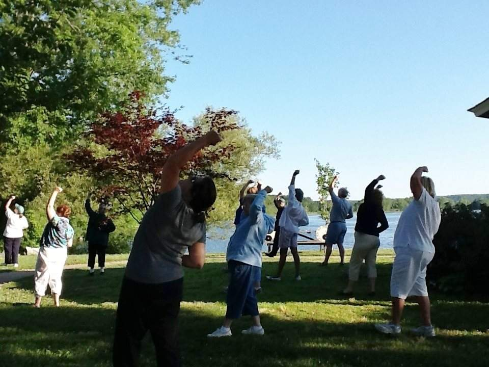 Summer Tai Chi on the River will take place at the Deep River Landing on River Street, Deep River this summer at 7 a.m. on Tuesdays and Thursdays for 10 weeks. Photo courtesy of Deep River Rotary Club