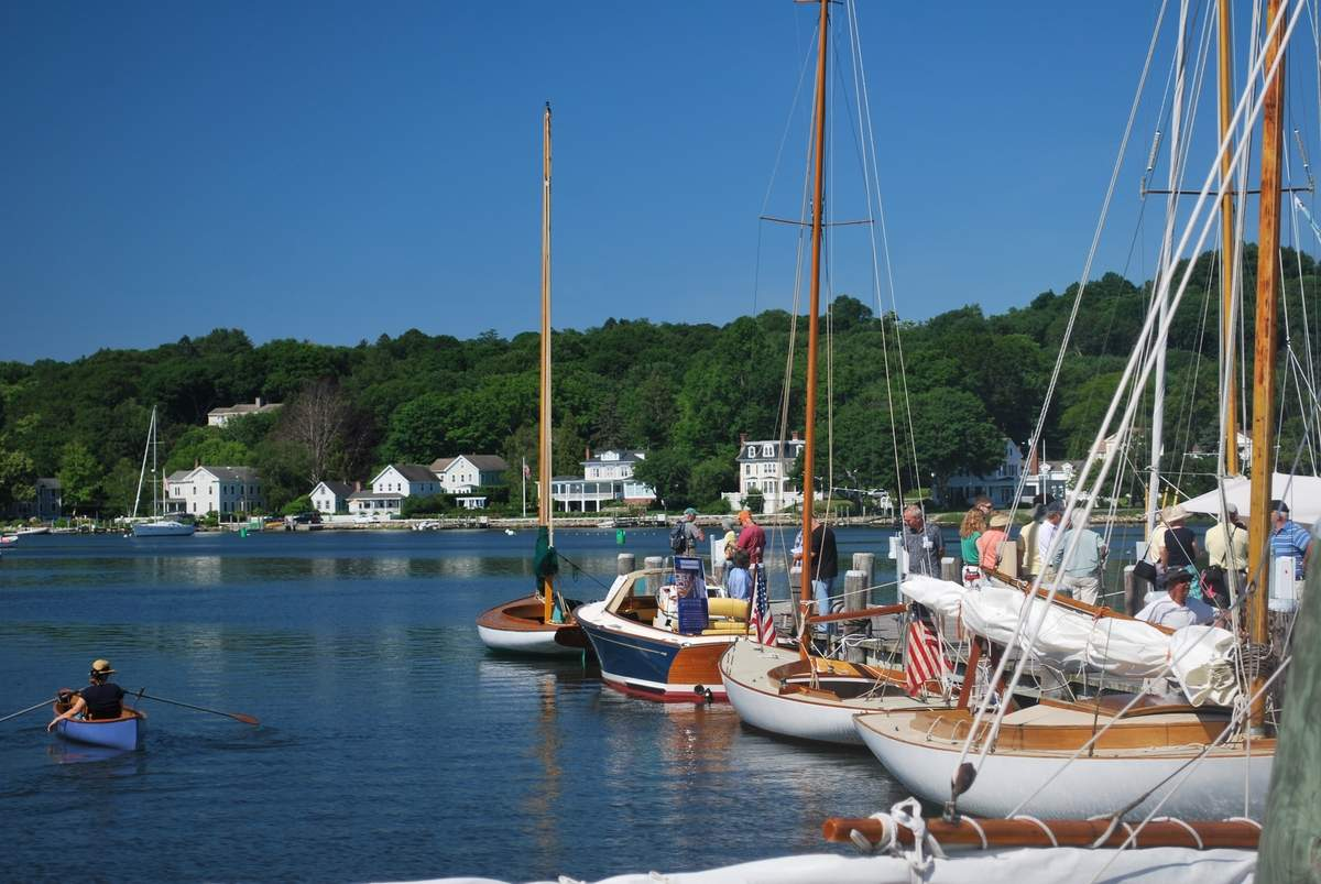 The boat show will take place at Mystic Seaport, 75 Greenmanville Avenue, Mystic. Photo courtesy of Mystic Seaport