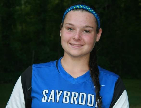 Chloe Root hit for a .453 batting average as a junior third baseman for the Old Saybrook softball squad this spring. Chloe collected All-Shoreline Conference Second Team honors, while helping the Rams reach the Class S State Tournament. Photo courtesy of Chloe Root