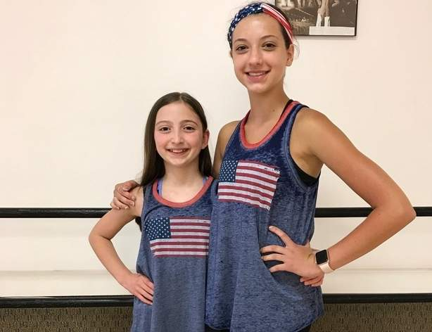 Guilford residents Juliana Montgomery (left) and Karissa Fryer will represent their country as part of the United States national tap team at the World Tap Dance Championships in Germany later this year. Montgomery (left) and Fryar are members of The Dancer's Studio in Northford. Photo courtesy of Sheri Bonanno